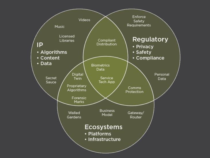 Venn Diagram: What are the key business drivers for Software Protection - with examples
